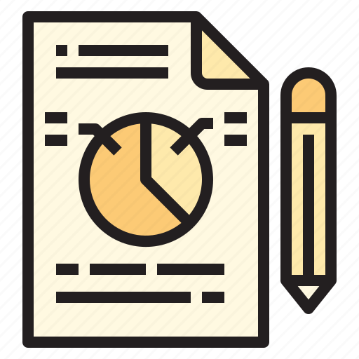 business, office, paper, report, tool icon
