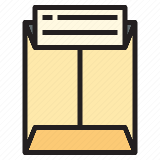 business, envelope, in, office, report, tool icon