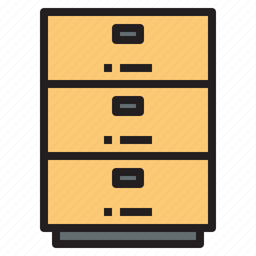 business, cabinet, file, office, report, tool icon