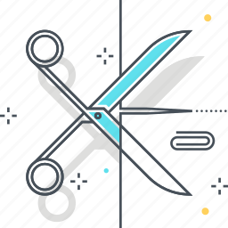 cutting, paper, paper clip, scissors icon