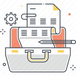 bag, book, briefcase, luggage, portfolio, suitcase icon