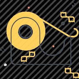 bind, stick, tape icon