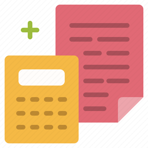 accounting, business, caculator, file, finance, office icon