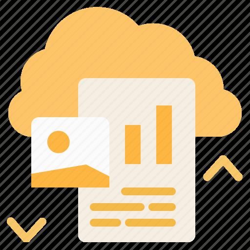 cloud, computing, data, network, storage icon