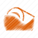 cutter, tape icon
