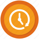 arrow, clock, history icon