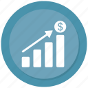 analytics, bar, chart, graph, growth icon