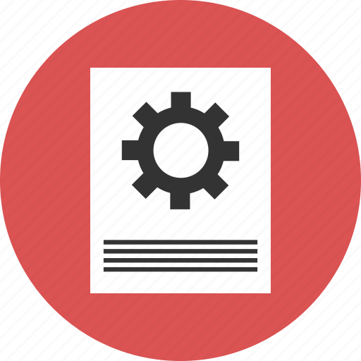 config, configuration, gear, paper, setting, settings icon