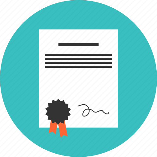 certificate, contract, degree, diploma, document icon