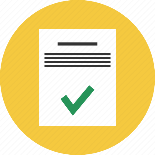 approve, document, file, text icon