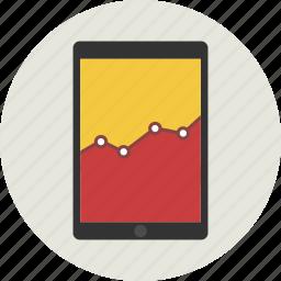 analysis, analytics, diagram, graph, ipad, report icon
