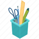 workplace, office, supplies, stationery icon