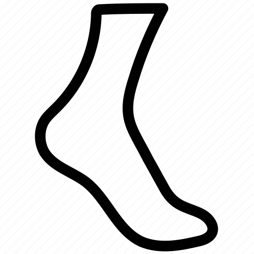 footwear, hose, hosiery, sock, stocking icon