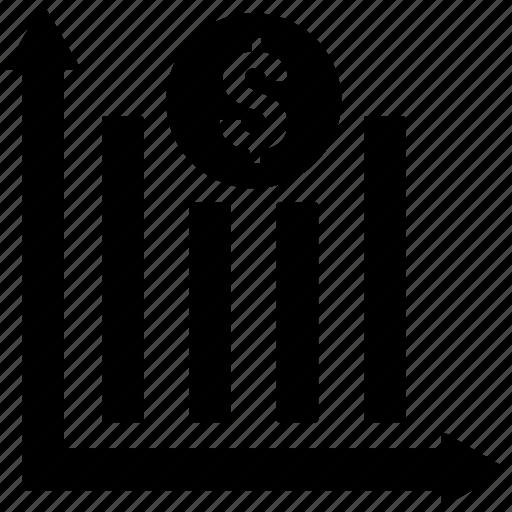 analytics, chart, dollar, graph, statistics icon icon