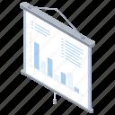 presentation, report, whiteboard, statistics icon