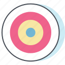 achieve, aim, bulls eye, dart board, goal, target, work icon