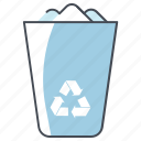 office chancery, paper, recycle, recycle bin, trash, waste, work icon