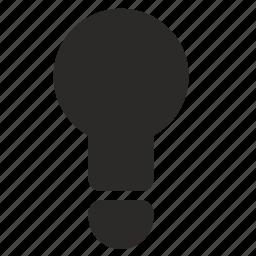idea, lamp, light, splash icon