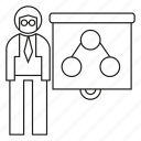 diagram, man, office, people, worker icon