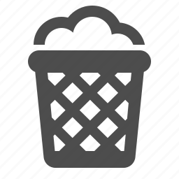 bin, can, garbage, office, recycle, trash icon