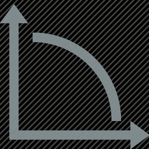 analysis, diagram, down, graph, stats icon