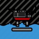 colour, energy, flotel, oil & gas, platform, rig icon