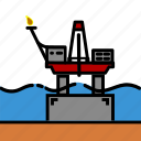 colour, energy, iceberg, oil & gas, platform, rig icon