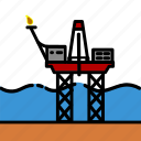 colour, energy, jackup, oil & gas, platform, rig icon