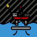 colour, energy, oil & gas, platform, rig, tensionleg icon