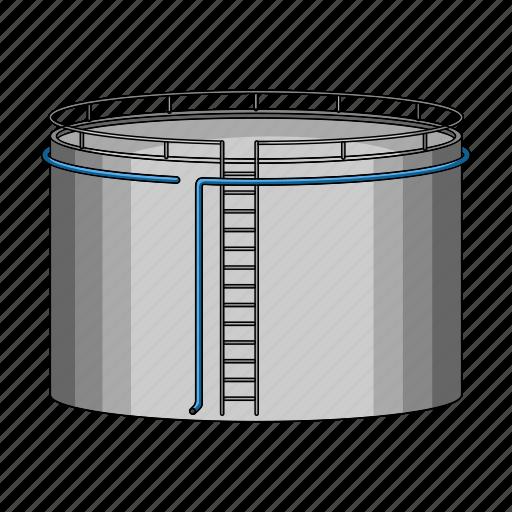 gas, oil, storage, tank icon