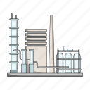 factory, mining, oil refining icon