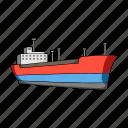 logistics, sea, ship, transport, transportation, water icon