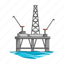 mining, oil, rig, sea icon