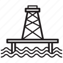 derrick, offshore, oil, platform, stage, tower icon