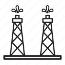 derrick, gas, platform, pump, rig, stage, tower