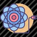 atom, atom power, atomic, atomic power, power, subatomic icon