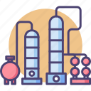 distillery, petrol, distillation, gas, oil, refinery, petroleum icon