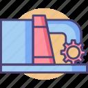 dam, hydro, hydro energy, hydro power, hydroelectric, power icon