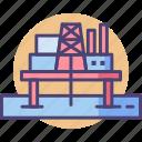 offshore, offshore platform, oil rig, platform icon