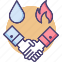agreement, collusion, contract, deal, gas, oil, oil and gas deal icon