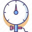 gauge, kpa, meter, pressure, pressure gauge, pressure meter icon