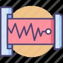 data, frequency, seismic, seismic data, vibration icon