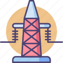 cell tower, receiver, signal, tower, transmission, transmission tower, transmitter icon