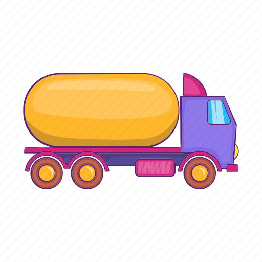carries, cartoon, gasoline, petrol, sign, transport, truck icon