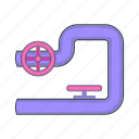 cartoon, construction, industry, pipe, sign, tube, valves icon