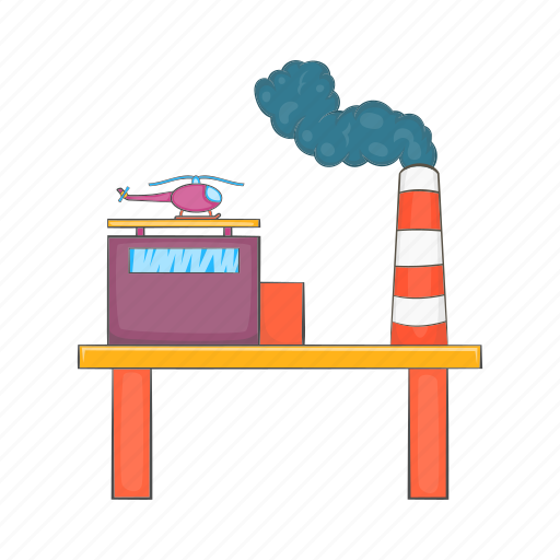 business, cartoon, fuel, industry, oil, platform, sign icon