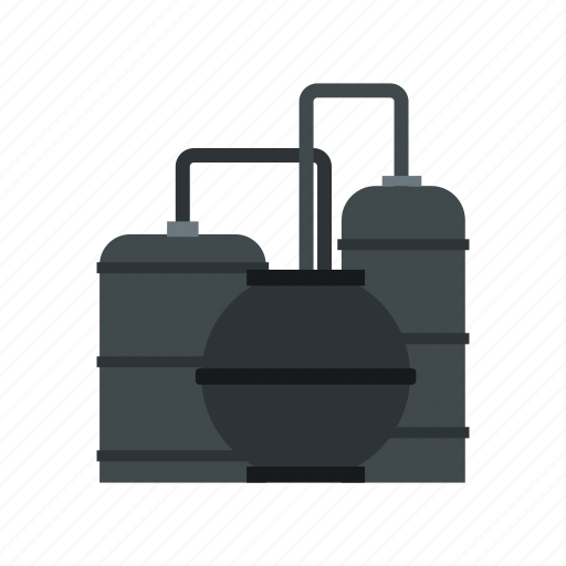 flat icon, fuel, industrial, industry, pipe, production, refinery icon
