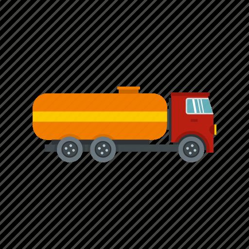 cargo, orange, tank, tanker, transport, transportation, truck icon
