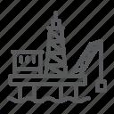 fuel, oil, platform, rig, derrick, drilling, industrial icon