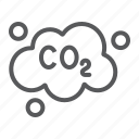 cloud, co2, dioxide, ecology, emissions, pollution icon